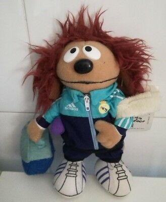 Rowlf Dog Muppets Plush RARE! 2000.Real Madrid Official Prod 8'' tall with tag