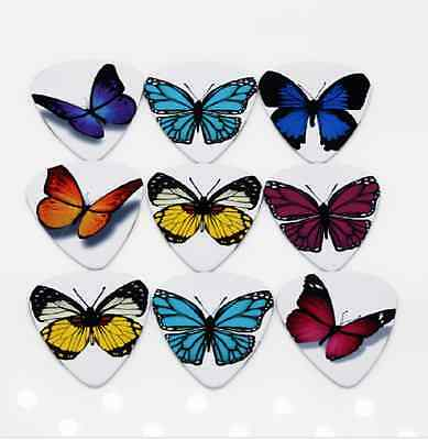 Assorted Butterfly Guitar Picks Lot of 10 .71 mm Acoustic Electric US Seller New