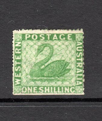 WA Sg46,Sc#24D;1861 1/-Deep Green Very Rough Perf 14-16 Mint.cv £4000 **RARE**