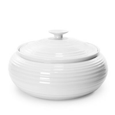 Portmeirion  White Low Covered Casserole Dish by Sophie Conran