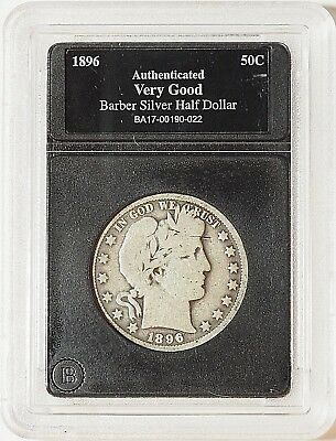 1896-O Barber Half Dollar -- Authenticated Very Good -- NO RESERVE