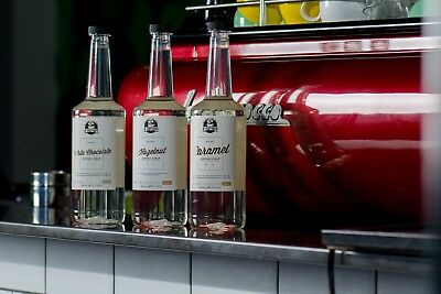 Flavoured Coffee Syrup 12 x bottles. 4 Free Syrup Pumps. Free Delivery