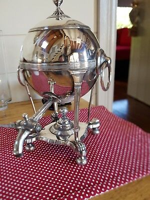 antique silver plate hot water urn