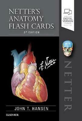 Netter's Anatomy Flash Cards by John T. Hansen Free Shipping!