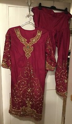 Asian, Indian, Pakistani, Bollywood Dress/Tunic And Trousers