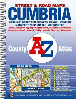 Cumbria County Atlas (A-Z County Atlas) by Geographers A-Z Map Comp Spiral bound