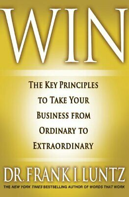 Win by Frank I. Luntz Hardback Book The Cheap Fast Free Post