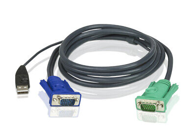 ATEN 1.2M USB KVM Cable with 3 in 1 SPHD