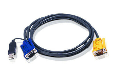 ATEN 1.8M USB KVM Cable with 3 in 1 SPHD and built-in PS/2 to USB converter