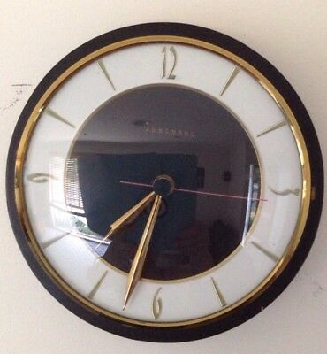 Vintage Retro Junghans Electronic LIC ATO Wall Clock,Working Made In Germany