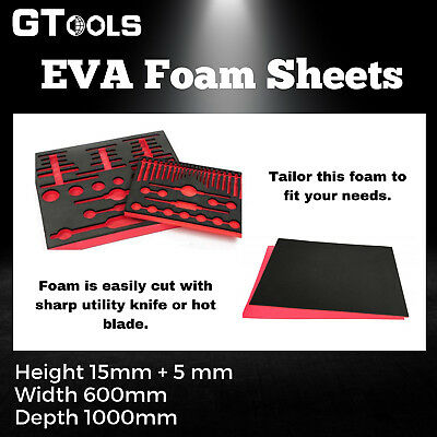1M x 0.6M EVA Tool Chest Foam Sheets DIY Tool Layout