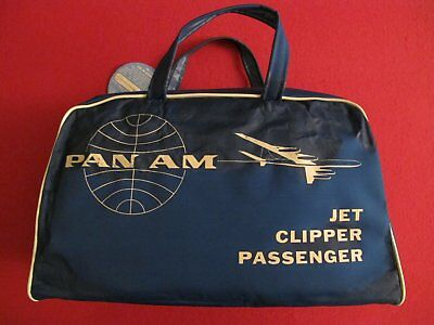 Pan Am jet clipper passenger bag sac années 50 aviation