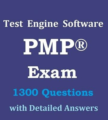 PMP Exam 1300 Questions Bank Test Engine Software Not Simulator PMBOK 6 Ed