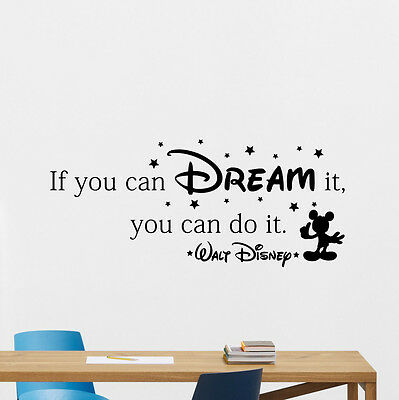 disney quote wall decal if you dream vinyl sticker nursery posterdisney quote wall decal if you dream vinyl sticker nursery poster decor 177crt