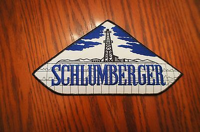 Vintage Oilfield Embroidered Patch Schlumberger Triangle