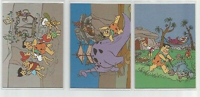 1994 Return of the Flinstones set of 3 Tekchrome chase insert cards