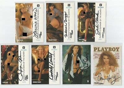 1995 Playboy Centerfold Collection March set of 7 autograph cards auto signature
