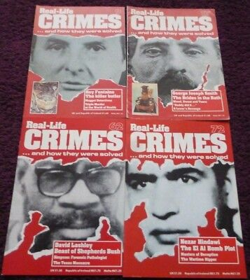 Lot* Bundle Real-Life Crimes Magazines*issues 9,17, 62, 72*true Crime*bargain