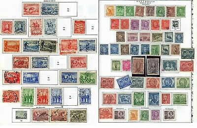 AUSTRALIA 81 Colonial Stamps 1920s through 1940s