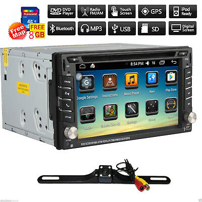 "6.2"" Double 2DIN Car MP5 DVD Player Bluetooth Touch Screen Stereo Radio+GPS Nav"