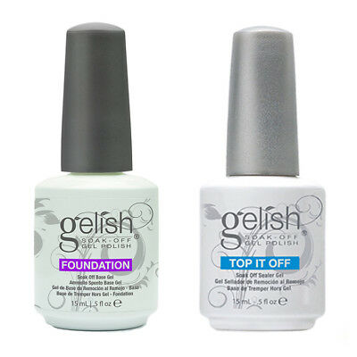 Gelish Top it Off & Foundation - Top Coat and Base Coat UV LED Soak Off Harmony