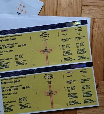 2x Tickets Biglietti 30 Thirty Second to Mars Live Bologna 17 Marzo SOLD OUT