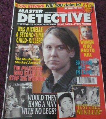 Master Detective Monthly Magazine*march 2010*true Crime Cases