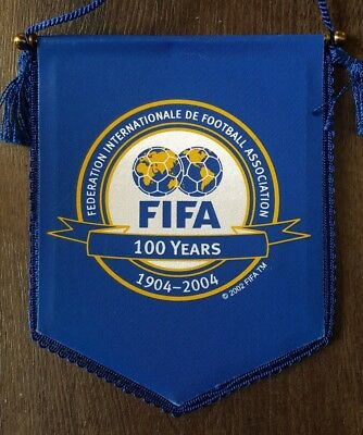 Official FIFA 100 years football pennant/flag 1904 - 2004