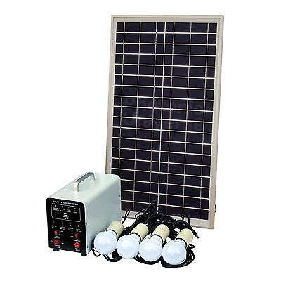 25W Off-Grid Solar Lighting System for Container, Static Caravan, Summer House
