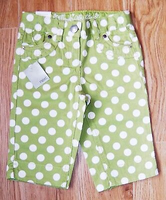 Bnwt Next Girls Crop Jeans 3 Yrs 2-3 New Holiday Party Green Pants Christmas Top