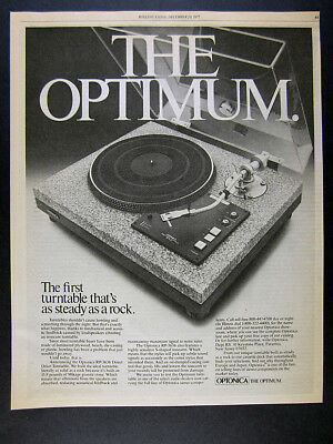 1977 Optonica RP-3636 RP3636 Turntable granite base vintage print Ad