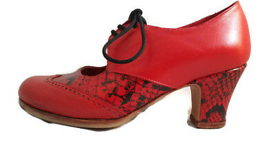 Flamenco Shoes Professionals brand new Red leather snake different sizes