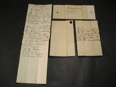 c1837 Queen Victoria Hand Written Letter & Notes Of Comands  re VIP Visitors