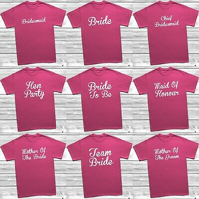 Personalised Hen Party T Shirts Hen Do Night Bride T-shirt Ladies Custom Printed