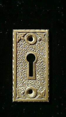1 Solid brass Eastlake key hole cover antique door knob Hardware.  heavy thick