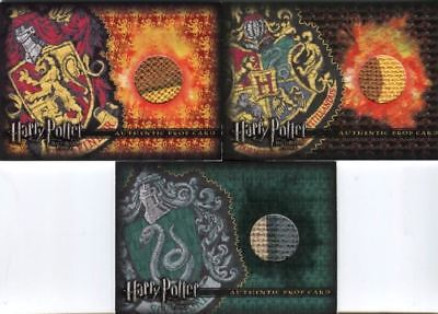 Harry Potter Half Blood Prince Quidditch Stands Comic Con Prop Card Set 3 Cards