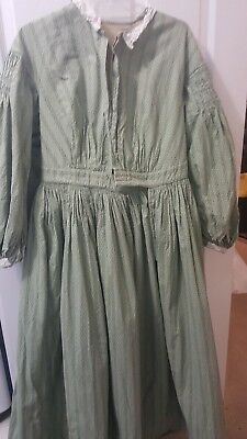 Civil war era dress original Smithsonian material re-enactors  size 10 - 18