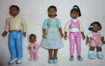Fisher Price Loving Family Dream Dollhouse African American Mom Dad Baby Sister