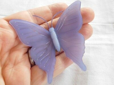 Fabulous Vintage 1960s HUGE Lucite Butterfly Brooch signed Ketty Dalsgaard