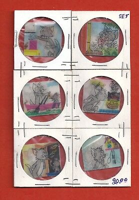 1960's VAR-VUE ... Tom and Jerry flashers ... set of 6