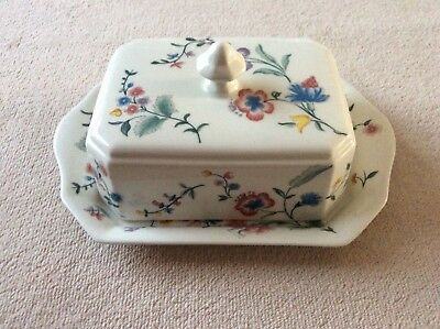 Laura Ashley Chinese Silk Butter Dish with Lid