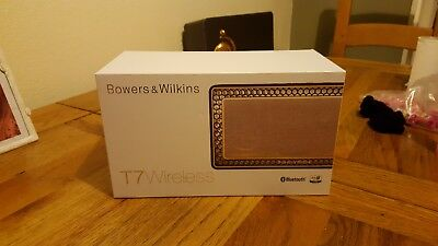 Bowers & Wilkins T7 Bluetooth Portable Speaker - Gold - NEW IN BOX