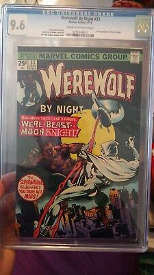 WEREWOLF BY NIGHT #33 (1975, Marvel) CGC 9.6 NM+ 2nd Moon Knight Appearance