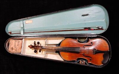 Antique Violin Estate Find Marked W.EIBICH, POSEN 1906  No Res