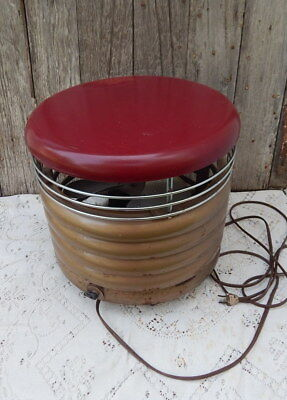 Vintage Redmond Hassock Floor Fan Electric 3 Speed Retro Footstool mid-century