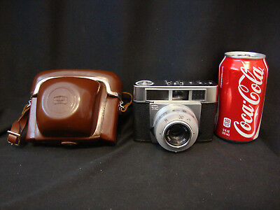 Vintage Zeiss Ikon 35MM Camera Symbolica W/Case Made In Germany- AS IS