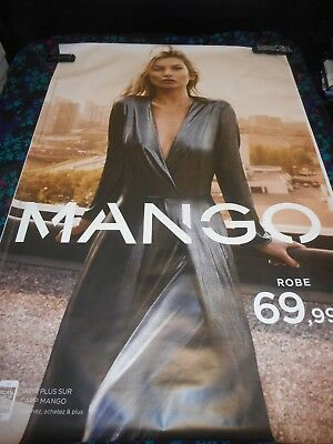 Kate Moss - Original Double Sided Mango French Bus Stop Poster