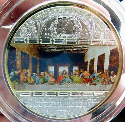 .cook Islands 2008 Masterpieces Of Art The Last Supper $20 .99% 3Oz Silver Proof