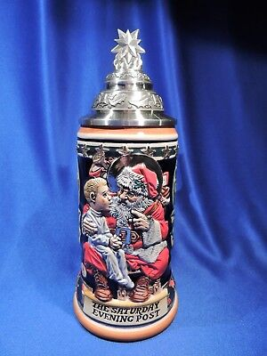 Budweiser (Saturday Evening Post) 'all I Want For Christmas' Lidded Stein