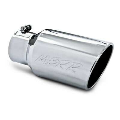 "MBRP 4"" to 6"" Rolled End Angled Cut Polished Stainless Steel Exhaust Tip T5073"